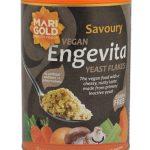 100% веган храна с ядков вкус направена основно от неактивна мая без изкуствени добавки и консерванти.