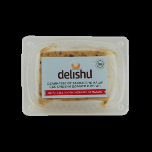 Веган сирене от кашу, сушени домати и риган Delishu