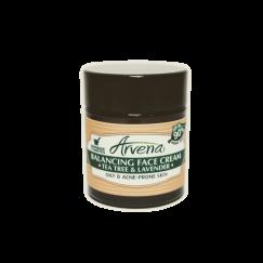 Балансиращ крем за лице Чаено дърво и Лавандула Arvena - 30 мл