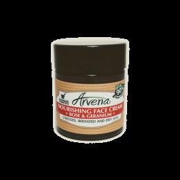 Подхранващ крем за лице Роза и Гераниум Arvena -  30 мл