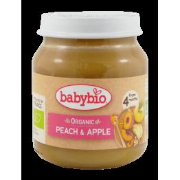 Био плодово пюре с праскови и ябълки Babybio - 130г