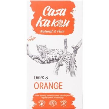 Черен шоколад с портокалови корички Casa Kakau - 90 гр