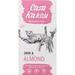 Черен шоколад с бадем Casa Kakau - 90 гр