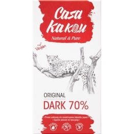 Черен шоколад Original Dark 70 % Casa Kakau - 80 гр
