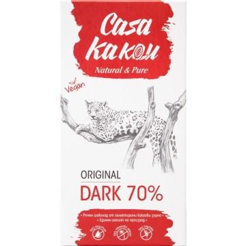 Черен шоколад натурален Dark 70% Casa Kakau - 80 гр