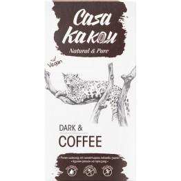 Черен шоколад с кафе на зърна Casa Kakau - 80 гр
