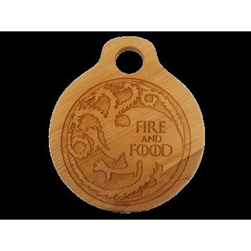 Дъска за рязане Fire and Food