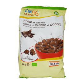 Био оризова закуска с какаов пълнеж без глутен Fior di loto - 300 гр