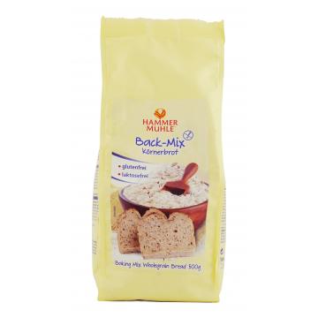 Безглутенова смес за печене на пълнозърнест хляб 500 гр - HAMMER MÜHLE