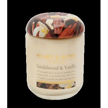 Ароматна свещ Сандалово дърво и Ванилия H&H - 340 гр