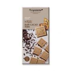 Веган бял шоколад със счукани какаови зърна Happy Benjamino - 70 гр