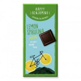 Веган протеинов шоколад със спирулина и лимоново масло Happy Benjamino - 70 гр