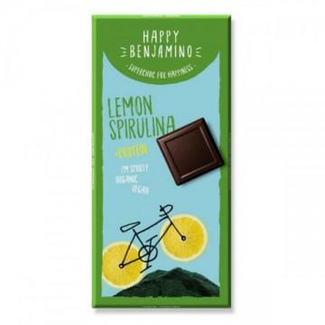 Протеинов шоколад със спирулина и ломоново масло Happy Benjamino - 70 гр
