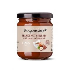 Веган лешников крем с какао и кокос Happy Benjamino - 200 гр