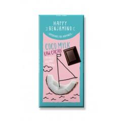 Суров веган шоколад с кокосово мляко Happy Benjamino - 25 гр