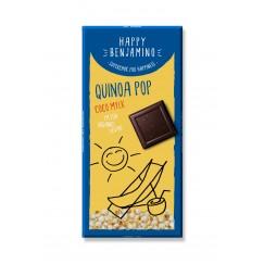 Веган шоколад с пуканки киноа и кокосово мляко Happy Benjamino - 70 гр