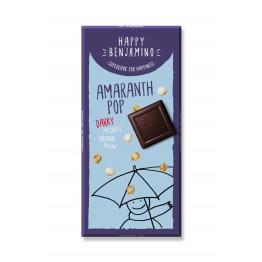 Веган шоколад с пуканки амарант Happy Benjamino - 70 гр