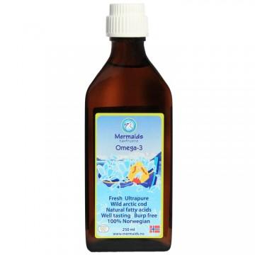 Норвежко рибено масло Омега-3 Mermaids Havfruene - 250 ml