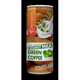 Кокосово мляко за пиене със зелено кафе Koh Libre - 250 мл