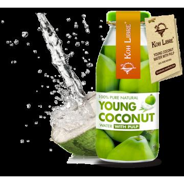 Кокосова Вода с парченца кокос (сок от млад кокос ) 100% Koh Libre -250мл