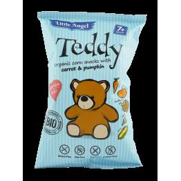 БИО Царевичен снакс с морков и тиква Teddy Little Angel - 30 гр