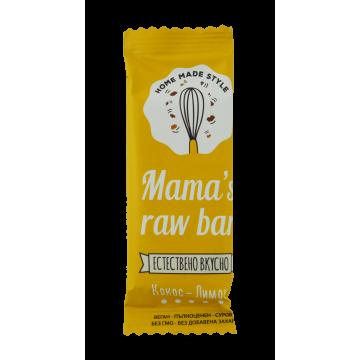 Суров бар кокос и лимон Mama' s raw bar - 30 г