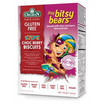 Бисквитки с шоколад и горски плодове Итси Битси Мечета Orgran - 175 гр