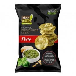 Чипс от кафяв пълнозърнест ориз с вкус Песто Rice Up - 60 / 120 г