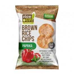 Чипс от кафяв пълнозърнест ориз с вкус Паприка Rice Up - 60 / 120 г