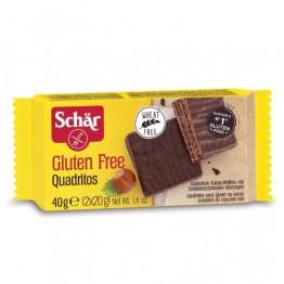 Шоколадовa вафлa Quadritos Dr.Schаr - 40 г