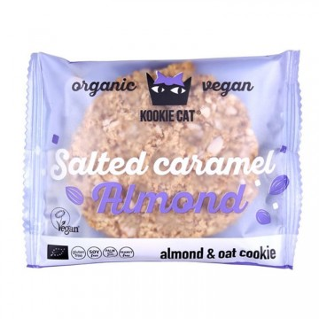 Курабийка със солени карамелизирани бадеми Kookie Cat - 50 г