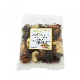 Микс сурови яски и сушени плодове Vikinuts - 80 г