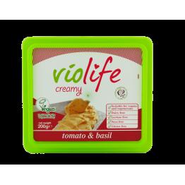 Веган крема сирене с вкус на домат и босилек Violife - 200 гр