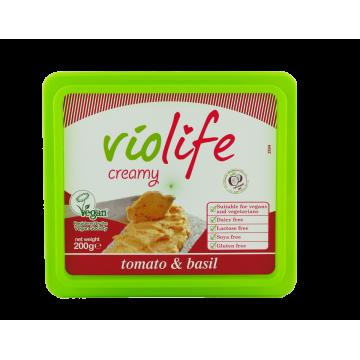 ВЕГАН крема сирене с вкус на домат и босилек Violife- 200гр