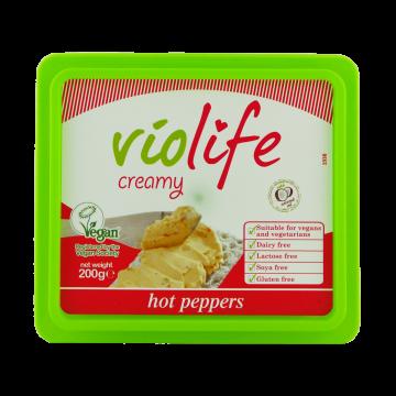 Веган крема за мазане с люти чушки Violife - 200 гр