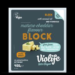 Веган кашкавал блок с вкус на зрял чедър Violife  - 400 гр
