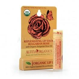 Био балсам за устни с роза Alteya Organics - 4,5 гр