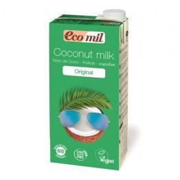 Кокосова напитка натурална със сироп от агаве 1000 мл - Eco Mil