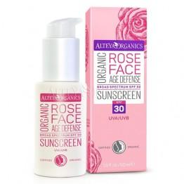 Био слънцезащитен крем за лице SPF 30 Alteya Organics - 50 мл