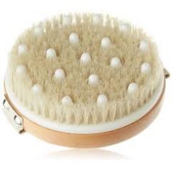 Четка за лимфен дренаж с естествен косъм и гумени накрайници Hydrea London