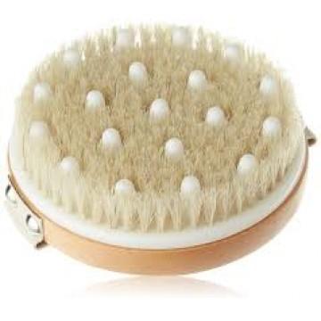 Четка за лимфен дренаж с естествен косъм и гумени накрайници Hydreya London