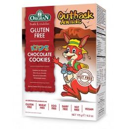 Шоколадови бисквитки безглутен животни Orgran - 175 гр