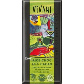 Шоколад с оризово мляко и 40% какао Vivani