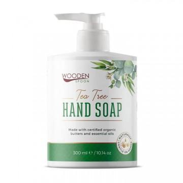 Сапун за ръце с чаено дърво и евкалипт Wooden Spoon - 300 мл