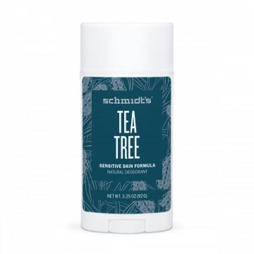 Натурален дезодорант стик за чувствителна кожа Чаено дърво Schmidt's - 92 г