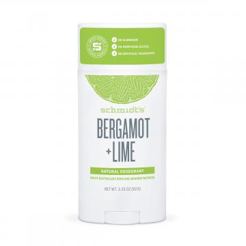 Натурален дезодорант стик за път Бергамот и Лайм  Schmidt's - 92 гр