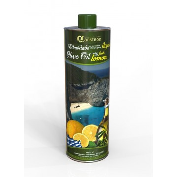 Маслиново масло екстра върджин с лимонов вкус Aristeon - 500 мл