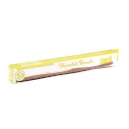 Бамбукова четка за зъби жълта (мека) - Humble Brush