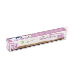 Бамбукова четка за зъби розова (мека) - Humble Brush
