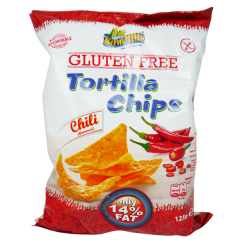 Безглутенов тортила чипс Чили Sam Mills - 125 гр